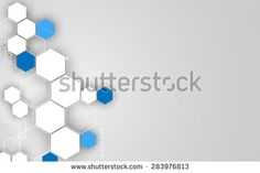 vector abstract hexagon technology concept clean design background