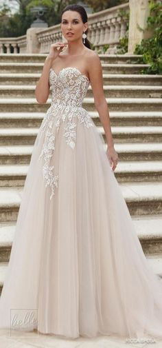 Ball gown wedding dress by Rica Sposa Collection 2018 - Hola Barcelona  9a62726fe9a