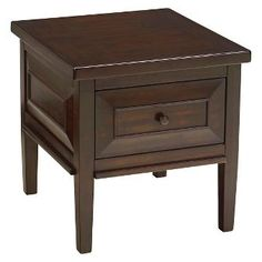 hindell park square end table rustic brown signature design by ashley
