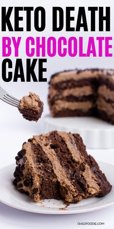 Easy Keto Death By Chocolate Cake that makes the perfect keto dessert! You have to try out this easy keto death by chocolate cake that is rich, delicious and so chocolaty with only g net carbs per serving! Chocolate Cake Mix Recipes, Death By Chocolate Cake, Ultimate Chocolate Cake, Keto Chocolate Cake, Healthy Chocolate, Low Carb Desserts, Low Carb Recipes, Dessert Recipes, Ketogenic Recipes