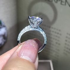 Ct Round Cut Diamond Halo Lovely Engagement Ring White Gold Finish - April 14 2019 at Wedding Rings Simple, Wedding Rings Solitaire, Princess Cut Engagement Rings, Beautiful Engagement Rings, Wedding Rings Vintage, Engagement Ring Cuts, Bridal Rings, Vintage Engagement Rings, Wedding Jewelry