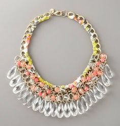 milly teardrop and woven necklace