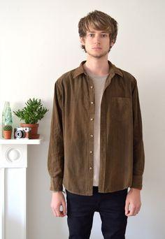 90s Vintage Brown Cord Shirt | Ica Vintage | ASOS Marketplace