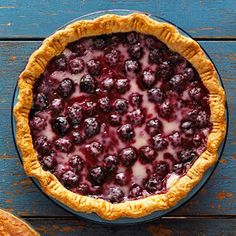 I love the creaminess of the sour cream with the tartness of the berries in this blackberry swirl pie.