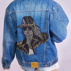 Michael Jackson Denim Jacket Womens Jean Jacket for Casual | Etsy Coachella, Harley Quinn, Michael Jackson Jacket, Boho, Nike, Jackets For Women, Denim, Etsy, Outfit