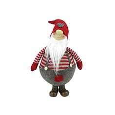 "12"" Red and Grey Striped ""Gilbert"" Chubby Standing Santa Gnome Plush Table Top Christmas Figure Northlight http://smile.amazon.com/dp/B00MOSGU1Y/ref=cm_sw_r_pi_dp_v99twb0G2XS0S"