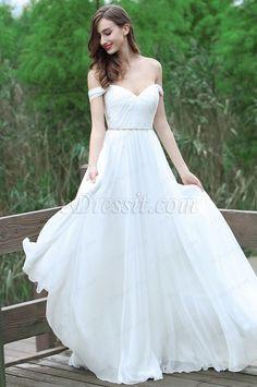 Suchen Sie die eDressit A Linie Weiß Chiffon Schulterfrei Brautkleid (01170807) im niederigsten Preis aber in Hoch-Qualität ? Bei eDressit.com können wir die Kleider für Sie in Maßanfertigung nähen .