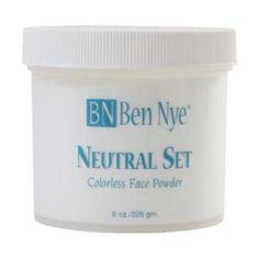 Ben Nye Neutral Set Setting Powder: setting powder for face paint Makeup Setting Powder, Ben Nye, Neutral Makeup, Translucent Powder, Sweat Proof, Body Makeup, Loose Powder, Acne Prone Skin, Face Powder