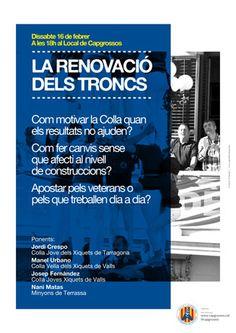 """Xerrada """"La renovació dels troncs"""". Capgrossos de Mataró. Disseny: Grambarcelona."""