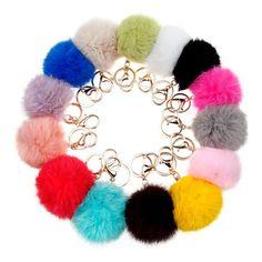 Меховой моды брелок ключи для lovers8 СМ много цветов кролик меховой шарик-брелок ювелирные изделия cubre llaves Натурального меха pom pom брелок