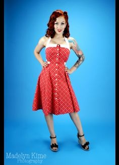 Peggy Sue Sundress in Ketchup