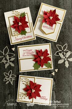 I've got handmade Christmas card ideas that pack a WOW! They are easy to make but beautiful and elegant at the same time. Learn more at www.klompenstampers.com #handmadechristmascards #greetingcardshandmade #handmadechristmascards #diycards #stampinupcards #jackiebolhuis #klompenstampers