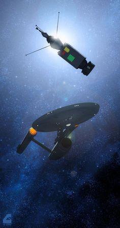 "scifiandfantasyuniverse: ""The USS Enterprise ""Star Trek"" "" Star Trek Tv Series, Star Trek Original Series, Star Trek Tos, Star Wars, Vaisseau Star Trek, Star Trek Wallpaper, Science Fiction, Star Trek Gifts, Stark Trek"