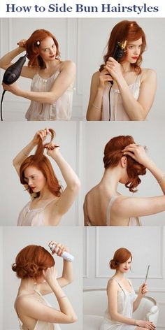how to side bun hairstyles