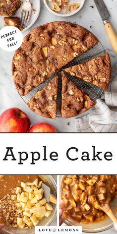 Apple Cake Recipe - Love and Lemons Easy Apple Cake, Fresh Apple Cake, Apple Cake Recipes, Baking Recipes, Dessert Recipes, Apple Cakes, Apple Desserts, Fruit Recipes, Brunch Recipes