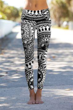 Black Chakra - Eco-Friendly Printed Performance Leggings - OM Shanti Clothing