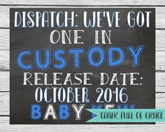 Police Officer  Pregnancy Announcement  by ChalkFullOfGrace