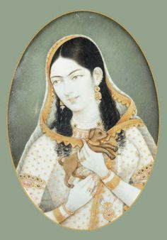Mastani, the Muslim mistress of Baijirao Peshwa Mughal Paintings, Indian Paintings, Historical Romance, Historical Women, Old Portraits, Great Warriors, Simple Portrait, History Of India, Vintage India