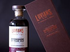 Luvians 21 Year Old Springbank Bottling on Packaging of the World - Creative Package Design Gallery