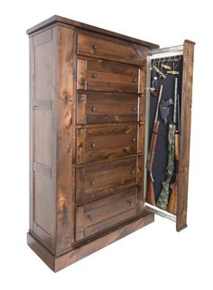 Chest of Drawers with Hidden Gun Storage by WillaHideCabinets