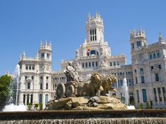 FREE THINGS TO DO IN MADRID  www.HostelRocket.com  Cibeles Fountain and Cibeles Palace Madrid, Spain