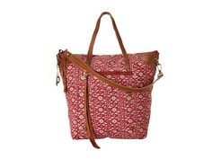 Lucky Brand Selden Tote Floral Vine Red - 6pm.com