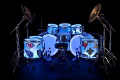 Chad Smith's awesome backlit drumkit!