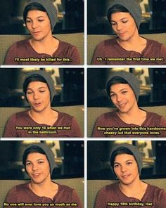 awww..<<< sadly he never said this!  But I would love for it to be real