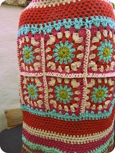 Manta en hilo de algodón Crochet.