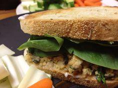 Chickpea Salad Sandwich. Kid-friendly! Mom friendly! Tasty!