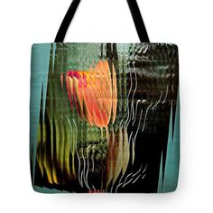 Electric Tulip 2 Tote Bag  http://fineartamerica.com/products/electric-tulip-2-sarah-loft-tote-..  #totebags #sarahloft #digital #abstract #mixedmedia #flowers