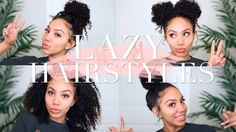 Lazy Hairstyles for CURLY HAIR | Quick, Easy, On-The-Go [Video] Read the article here - http://blackhairinformation.com/video-gallery/lazy-hairstyles-curly-hair-quick-easy-go-video/
