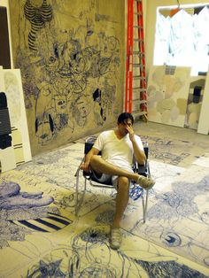 Jose Lerma in his studio.