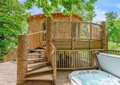 Something different check out this treehouse with hot tub on the Isle of Wight.