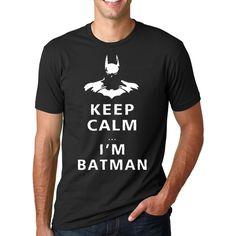 >> Click to Buy << New Fashion Funny Keep Calm I Am Batman Printed T-Shirts O-Neck Streetwear Men's fitness crossfit Tshirt Summer Hip Hop mmaTops #Affiliate