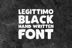Legittimo Black - Font by typebychris on @creativemarket