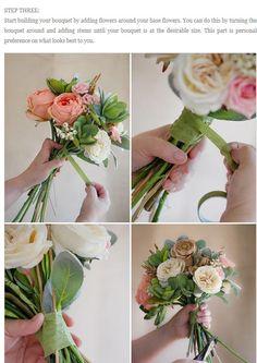 フェイクフラワーを使った手作りブーケの作り方   結婚式 DIY&ハンドメイド作り方
