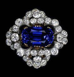 Burmese 37.29 carat sapphire brooch, given to Elizabeth Taylor by her husband Richard Burton.