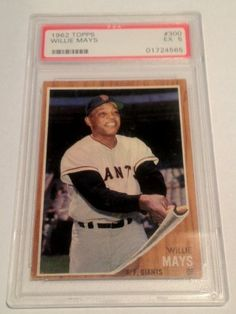 Willie Mays 1962 Topps #300 PSA Graded 5 EX Baseball Card by Topps. $99.99. PSA Graded 5(EX). Free First Class Shipping Upgrade.