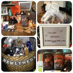 DIY personalized Newlywed/ housewarming gift basket.