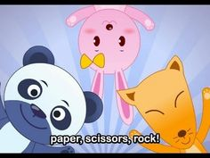 Muffin Songs - Paper, Scissors, Rock   | nursery rhymes & children songs with lyrics | muffin songs
