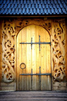 """voiceofnature: """"The entrance to the viking hall of Borre. My instagram: voiceofnature My blog: www.naviana.blogg.no """""""