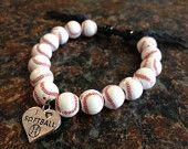 Baseball Bracelet. $7.00, via Etsy.