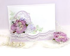 Create a card using Spellbinders Card Creator Border Dies and learn a background technique too. DIY