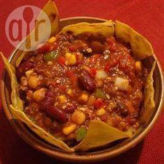 Le chili végé de grand-mère (mijoteuse) @ qc.allrecipes.ca