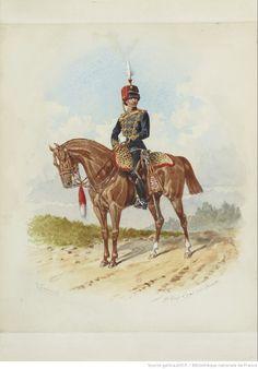 British; 8th King's Royal Irish Hussars, Officer, c.1886 by R.Simkin