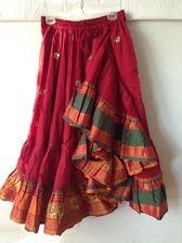 Embroidered Aishwarya Skirt Red