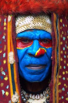 Western Highlands, Papua New Guinea- apparently the melanesians are the reigning champions of body paint