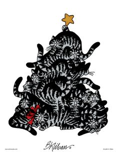 Kliban's Cats on Gocomics.com  Christmas Tree.