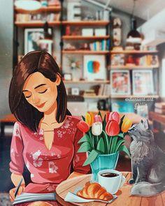 art and sketches Foto Cartoon, Cartoon Girl Images, Girl Cartoon, Cartoon Art, Art And Illustration, Character Illustration, Illustrations, Girly Drawings, Art Drawings